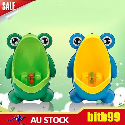 Frog Potty Toilet Children Training Kids Urinal for Boys Pee Trainer Bathroom AA