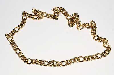 18Ct Solid Yellow Gold 214.1G Gents Curb Link Chain Necklace (Wd)