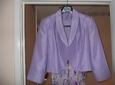 Wedding Outfit, Lilac Jacket and Floral Dress Size 16, Used only once