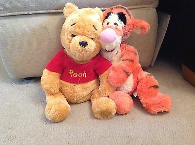 Disney Store Tigger And Winnie The Pooh Cuddly Toys