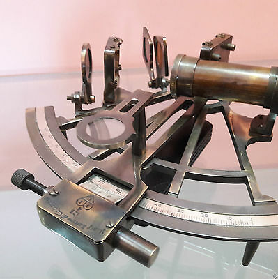 Nautical Sextant Brass Antique United Collectible Decor 8 Inch Gift