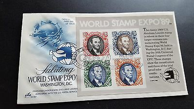 us fdc lincoln 90c sheet f758