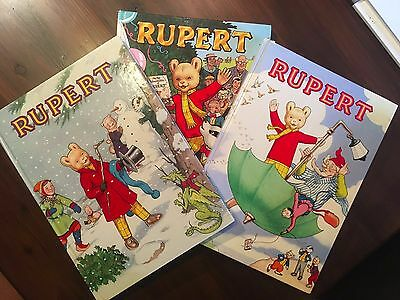 Rupert Bear Books with 50th Anniversary Annual (1985) and 2 Additional Annuals!