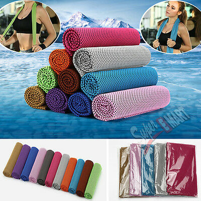New Instant Cooling Towel ICE Cold Golf Cycling Jogging Gym Sports Outdoor TOWEL