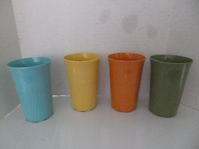 "Vintage Retro Stanley Home Products 3 1/2"" Colored Tumblers"
