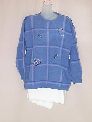 1970's/80's Scottish Wool Jumper with Golf Themed Embroidery.