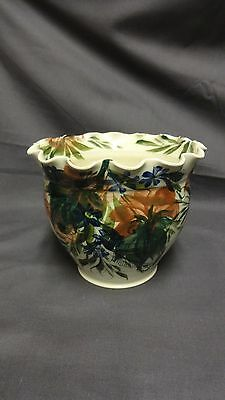 """Welsh GWILI Pottery Carmarthen Attractive 5"""" Hand Decorated Planter"""