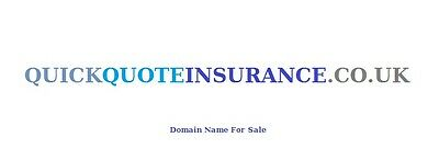 Domain Name  -  QUICKQUOTEINSURANCE.CO.UK