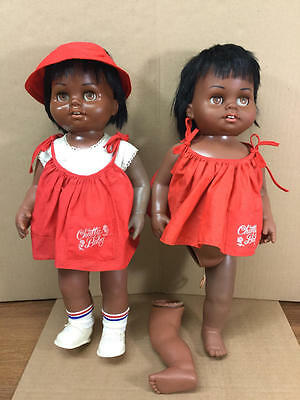 Vintage Mattel Black African American Chatty Baby Doll Lot