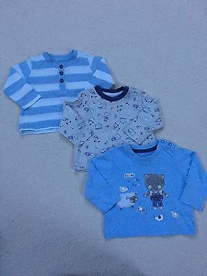 Boy's Long Sleeved Tops 3-6 Months