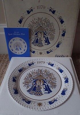 SPODE CHRISTMAS PLATE - 1979 10th PLATE - AWAY IN A MANGER - BOXED