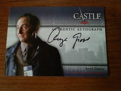Arye Gross Autograph Trading Card Seasons 1 & 2  Castle 2012