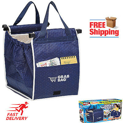 Reusable Shopping Grocery Bag Grab Tote Bag Eco Insulated Foldable Hot Cold Food