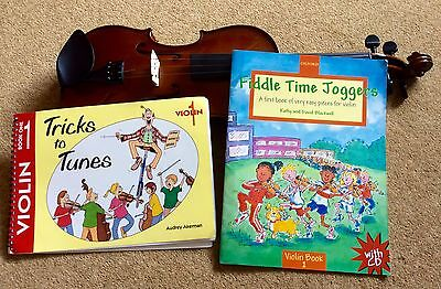 FIDDLE TIME JOGGERS 1 + CD. & TRICKS TO TUNES  for VIOLIN