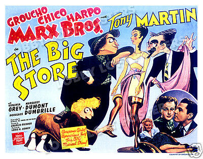 The Big Store Lobby Title Card Poster 1941 The Marx Brothers Groucho Harpo Chico