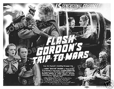 Flash Gordon's Trip To Mars Lobby Title Card Poster 1938 Buster Crabbe