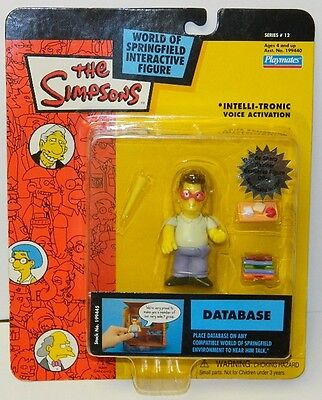 The Simpsons Database Action Figure with Voice  Series 12, Playmates 2003 NEW