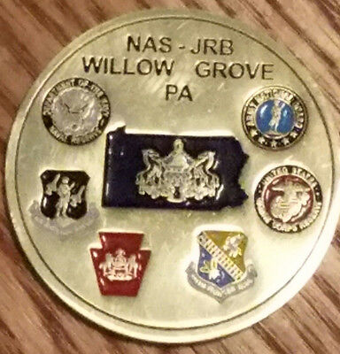 Naval Air Station (NAS) Joint Reserve Base (JRB) Willow Grove Challenge Coin