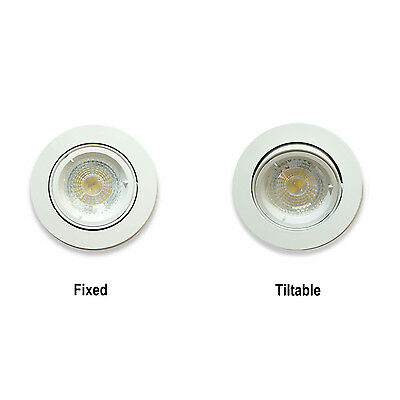 10 x LED Ceiling Round Twist Lock White GU10 Spotlight Downlights Light Fittings