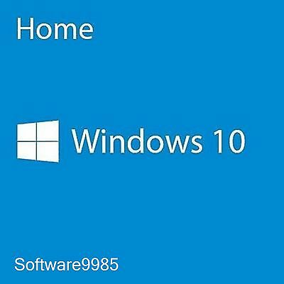 Genuine Windows 10 Home 32 / 64Bit Original License Key Scrap Pc