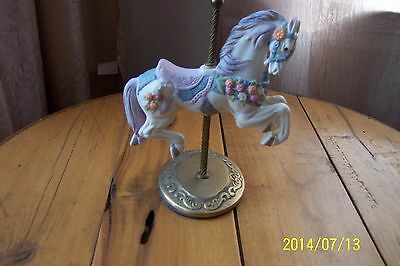 1987 Willitts Design Carousel Horse on Brass Base and Pole