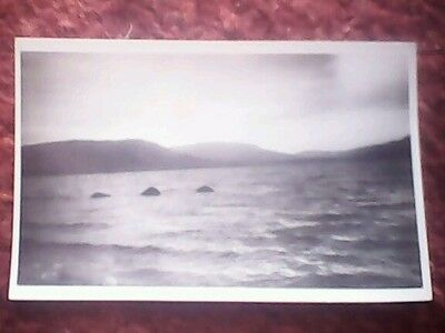 Loch Ness Monster postcard 14 July 1952 photo by L. Stuart