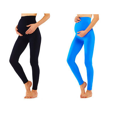 Maternity Leggings Pregnancy Comfortable Shaper Pants Belly Care Underwear Black