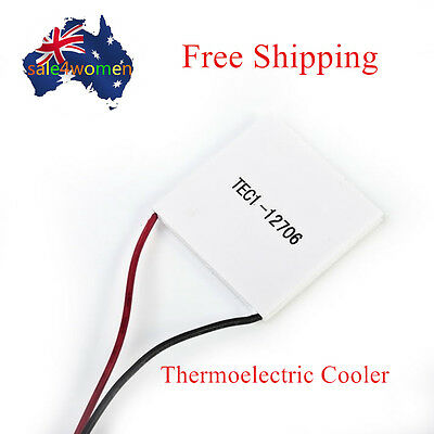 12V 60W TEC1-12706 Heatsink Thermoelectric Cooler Peltier Cooling Plate Module X