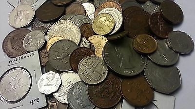 Huge  Mixed Bulk  Lot Of (120+)  Assorted  International World Coins Low Price!!