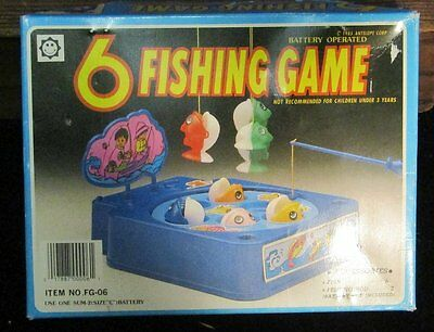 Vintage 1985 Antelope 6 Fishing Game  Battery Operated In Original Box FG-06