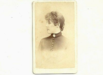 Vintage CDV Photo Young Lady Maria Spragge Owen Sound Ontario Old Photograph
