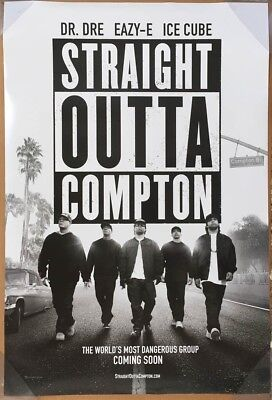 STRAIGHT OUTTA COMPTON MOVIE POSTER 2 Sided ORIGINAL 27x40 NWA