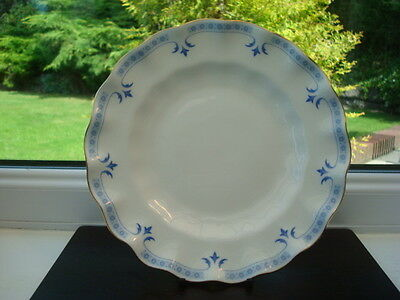Royal Crown Derby Porcelain Grenville Fluted 8 inch Plate 1st Quality, British