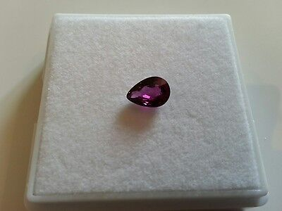 Beautiful 1.09ct Natural Pear Neon Purple Rhodolite Garnet (Malawi Garnet)