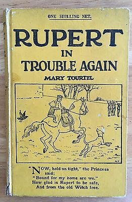 RUPERT IN TROUBLE AGAIN LITTLE BEAR LIBRARY No 15 MARY TOURTEL 1930's Good Plus