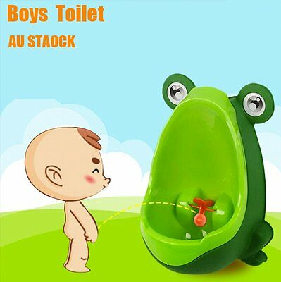 Kids Baby Toddler Boy Frog Potty Urinal Pee Toilet Travel Home Training AU#