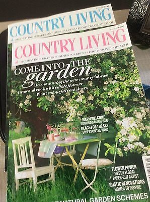 Country Living Magazines X 3 May/june & July 2017