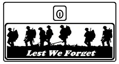 Vespa Lest We Forget Toolbox door decal Px T5 LML Choice of 10 colours