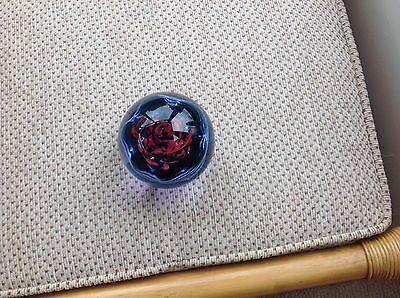 Blue/red Glass Paperweight