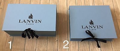 Lanvin Box Boxes Sneaker Trainers Shoes Jewellery Gift Storage Flip Top Ribbon