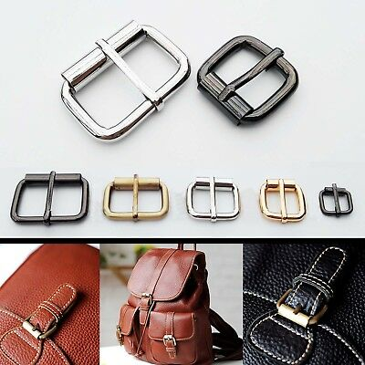 Metal Heavy Duty Leather Hand Bag Shoe Strap Belt Adjust Roller Pin Buckle Snap