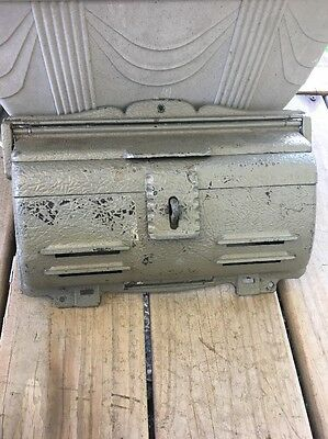 Vintage Black Mailbox Remington Hardware Metal Wall Mounted Locking USA