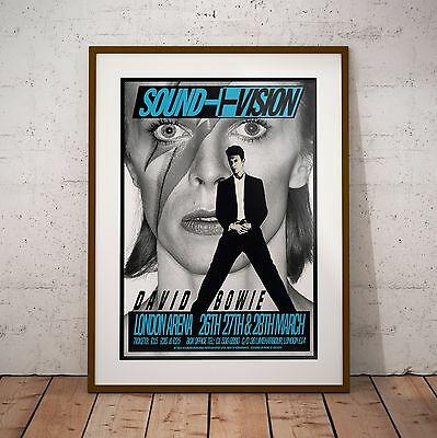 Bowie Sound & Vision Tour London Arena Concert Poster Print Two Sizes RARE NEW