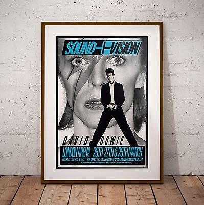 Bowie Sound & Vision Tour London Arena Three Print Options or Framed Poster NEW