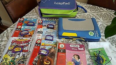 Leap Frog Leap Pad with case and 7 books with cartridges.
