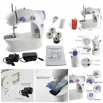 Portable Mini Handheld Electric Sewing Machine Desktop Home Household Sewing MU