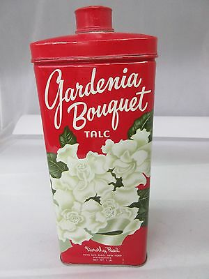 Vintage Advertising Gardenia Bouquet Talcum Powder Talc Tin   Collectible  S-818