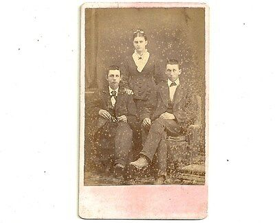 Antique CDV Photo Brothers And Sister Chatham Ontario Vintage Carte De Visite
