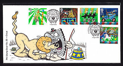 2002 GB Great Britain Phil Stamp First Day Colour Cover FDC Circus 92 of 100