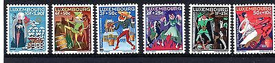 Luxembourg (1145) 1965 National Welfare fund. Fairy Tales set Sg771-6 Unmounted